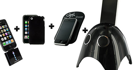 Promo : pack iGhost+batterie Novodio+coque Novodio+tapis antidérapant voiture pour 89€