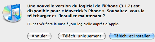 iPhone OS 3.1.2 disponible