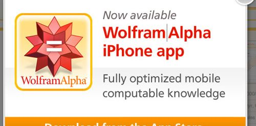 Wolfram Alpha en version mobile, c'est fini