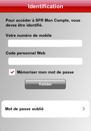 SFR : Mon Compte sur l'iPhone | News de Geek, iPhone, iPod & co